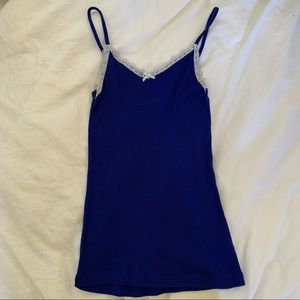 2 for $15 6ixty8ight Blue Lace Tank Top